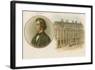 Frederic Chopin, Polish, Composer and Virtuoso Pianist--Framed Giclee Print