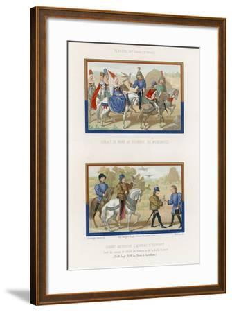 Girart Goes to the Tournament in Montarcis and Girart Finds Euriant's Ring--Framed Giclee Print