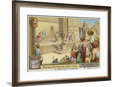 Liebig Card Featuring a Representation of Ancient Greek Theatre--Framed Giclee Print