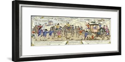 The Arrest of Louis XVI of France and His Family, Varennes, 22 June 1791--Framed Giclee Print
