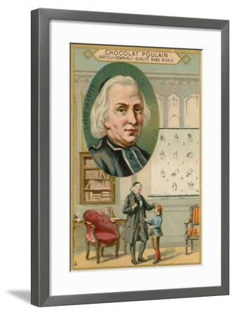 Chocolat Poulain Trade Card, Charles-Michel De L'Epee--Framed Giclee Print
