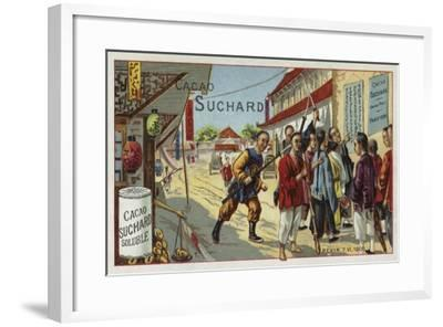 Boxers on a Street in Beijing, China, Boxer Rebellion, 7 June 1900--Framed Giclee Print