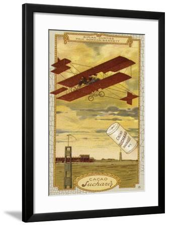 Curtiss Biplane Competing for the Gordon Bennett Trophy--Framed Giclee Print