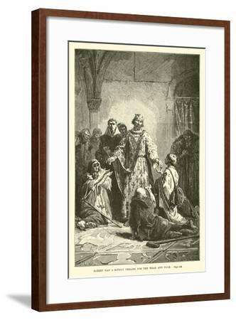 Robert Had a Kindly Feeling for the Weak and Poor--Framed Giclee Print