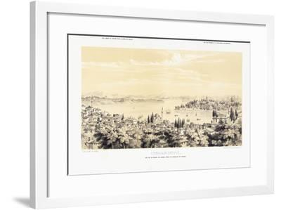 Panorama of Constantinople, with Two Views of Buyukdere, 1838-1845--Framed Giclee Print