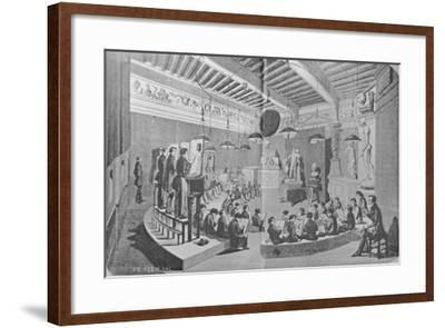 Drawing Lesson from Sculpture, Royal Free School of Art--Framed Giclee Print