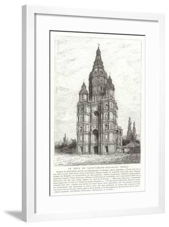 Church Tower of the Abbey of Saint-Amand-Les-Eaux, France--Framed Giclee Print
