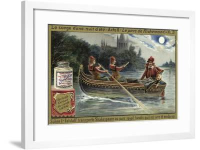 Scene from a Midsummer Night's Dream, an Opera by Ambroise Thomas--Framed Giclee Print
