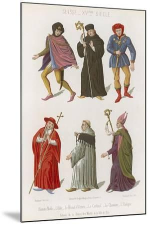 Abbot, the Chief Herald, Cardinal, Canon and Bishop--Mounted Giclee Print