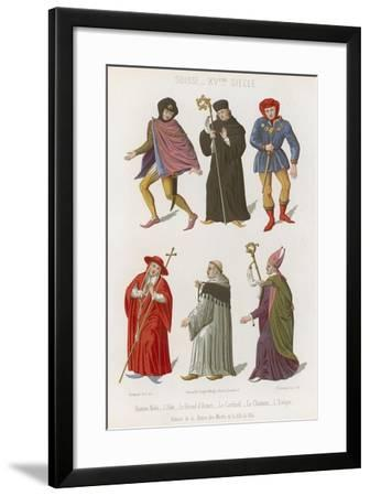 Abbot, the Chief Herald, Cardinal, Canon and Bishop--Framed Giclee Print