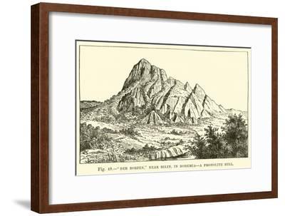 """Der Borzen,"" Near Bilin, in Bohemia, a Phonolite Hill--Framed Giclee Print"