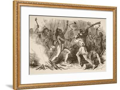 The Battle of Bloody Brook on September the 18Th, 1675--Framed Giclee Print
