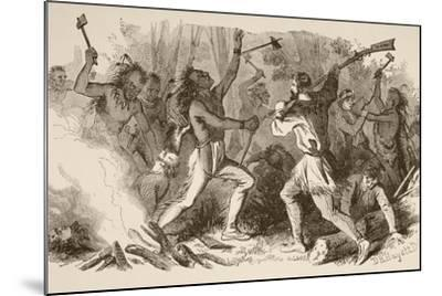 The Battle of Bloody Brook on September the 18Th, 1675--Mounted Giclee Print
