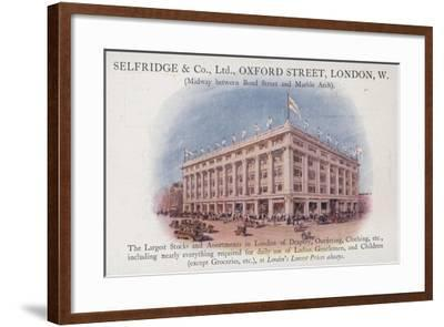 Selfridge and Company Limited, Oxford Street, London, West--Framed Giclee Print