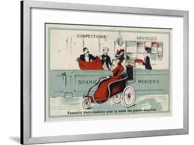 Electric Armchairs for Visiting Department Stores--Framed Giclee Print