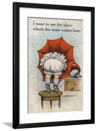 I Want to See the Place Where the Noise Comes From--Framed Giclee Print