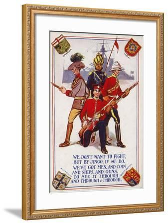 Soldiers of the Armies of Canada, India, Australia and Great Britain--Framed Giclee Print