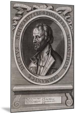 Philipp Melanchthon, German Theologian of the Protestant Reformation--Mounted Giclee Print