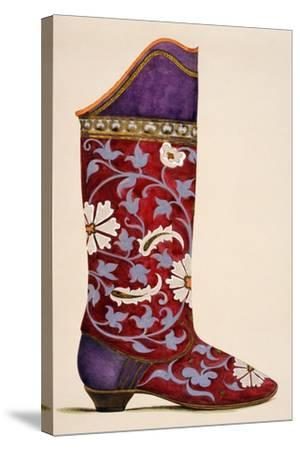 Illustration from a Portfolio of Watercolours of Shoes--Stretched Canvas Print