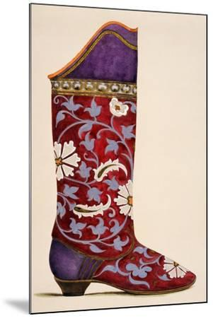 Illustration from a Portfolio of Watercolours of Shoes--Mounted Giclee Print