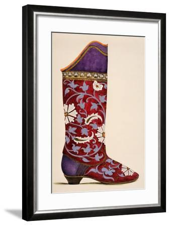 Illustration from a Portfolio of Watercolours of Shoes--Framed Giclee Print