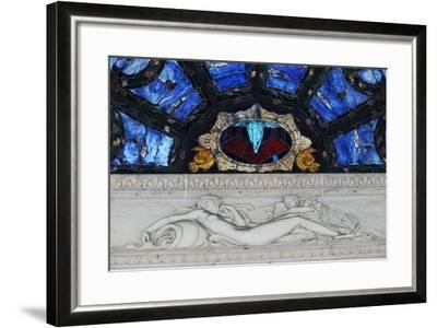 Statue in Marble and Stained Glass, Tettuccio Thermal Baths--Framed Giclee Print