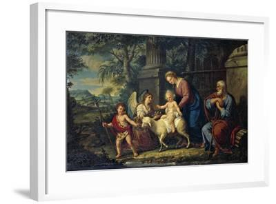 The Holy Family with St John the Baptist, Lattanzio Querena--Framed Giclee Print