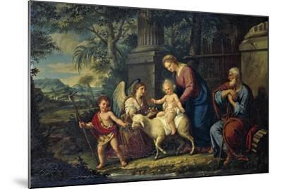 The Holy Family with St John the Baptist, Lattanzio Querena--Mounted Giclee Print