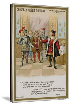 Chocolat Guerin-Boutron Trade Card, Historic Words Series--Stretched Canvas Print