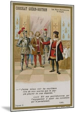 Chocolat Guerin-Boutron Trade Card, Historic Words Series--Mounted Giclee Print
