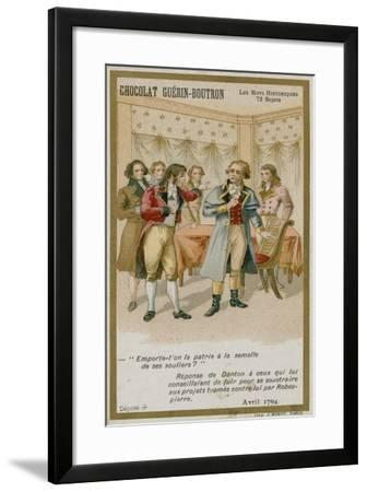 Chocolat Guerin-Boutron Trade Card, Historic Words Series--Framed Giclee Print