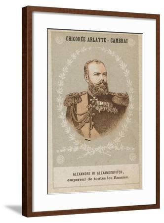 Alexandre III Alexandrovitch, Empereur De Toutes Les Russies--Framed Giclee Print