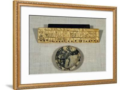 Engraved Ivory Plaque from Step Pyramid of Djoser--Framed Giclee Print