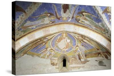 Christ in Majesty, Fresco, Crypt Apse of Monte Maria Abbey, Near Mals--Stretched Canvas Print