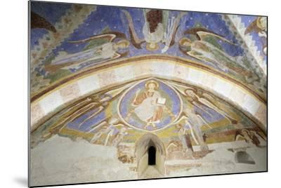 Christ in Majesty, Fresco, Crypt Apse of Monte Maria Abbey, Near Mals--Mounted Giclee Print