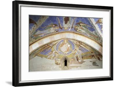 Christ in Majesty, Fresco, Crypt Apse of Monte Maria Abbey, Near Mals--Framed Giclee Print
