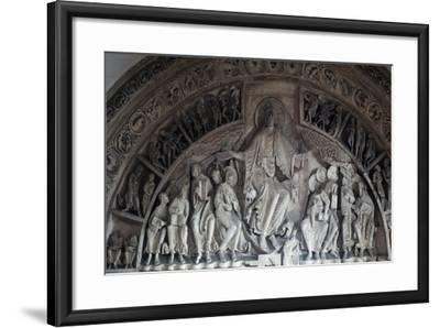 Christ Enthroned, Central Tympanum of the Narthex--Framed Giclee Print