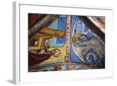 Frescoes in St George Chapel, Basilica of St Romedius--Framed Giclee Print