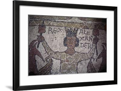 Detail from Mosaic Floor, Cathedral of San Nicola Pellegrino--Framed Giclee Print
