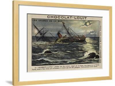Wreck of the Drummond Castle Off Ushant, France, 16 June 1896--Framed Giclee Print