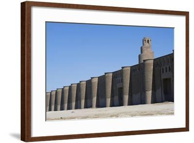Spiral Minaret and Outer Walls of Abu Dulaf Mosque--Framed Giclee Print