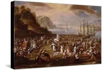Martyrdom of St Ursula and Her Companions by Scipione Compagno--Stretched Canvas Print