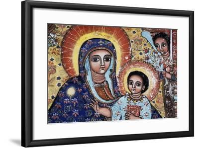 Virgin and Child, Detail, Fresco, Church of Narga Selassie--Framed Giclee Print