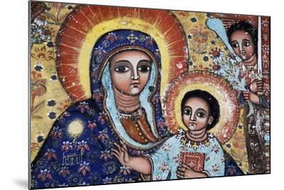 Virgin and Child, Detail, Fresco, Church of Narga Selassie--Mounted Giclee Print