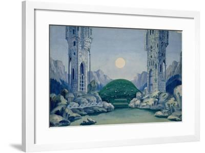 Set Design for the Premiere of 'The Wooden Prince'--Framed Giclee Print
