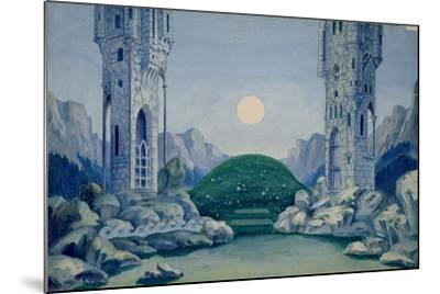Set Design for the Premiere of 'The Wooden Prince'--Mounted Giclee Print