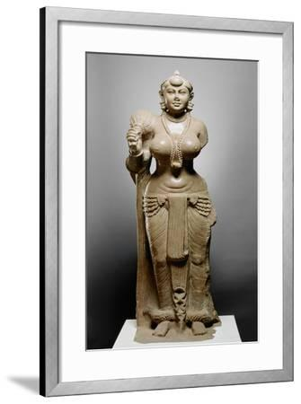 Goddess with Fly Whisk, Didarganj Patna Culture, 300 Bc--Framed Giclee Print