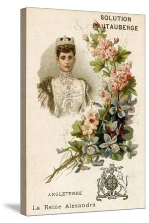 Solution Pautauberge Trade Card, Alexandra of Denmark--Stretched Canvas Print