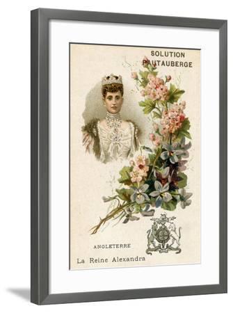 Solution Pautauberge Trade Card, Alexandra of Denmark--Framed Giclee Print