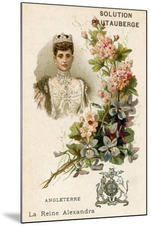 Solution Pautauberge Trade Card, Alexandra of Denmark--Mounted Giclee Print